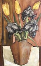 ANDRE LHOTE - SUPERB 1960'S ABSTRACT CUBIST OIL PAINTING - STILL LIFE FLOWERS