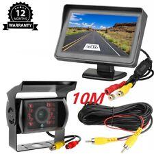 "Car Backup 18 LED Camera Rear View System Night Vision w/ 4.3"" Reversing Monitor"