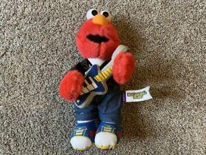 "Fisher Price 1999 Rock & Roll Elmo Plush Stuffed Toy Vintage Sesame Street 10"""