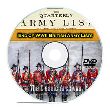 End of WWII British Army Lists,1943-1946, 48 Volumes British History PDF DVD E79