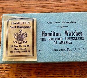 NOS authentic Hamilton mainspring 16s motor barrel pocket watch 16 size No. 534B