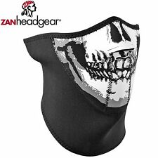 Zan Headgear Neoprene Half Face Mask Black Skull Riding Cold Gear Outdoor