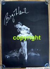 BIRGIT KEIL signiertes POSTER Schwanensee BALLETT Primaballerina 59 x 84 1975