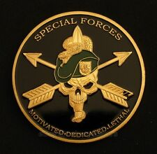 US Army Special Forces Green Berets Military Fans Gold Plated Commemorative Coin