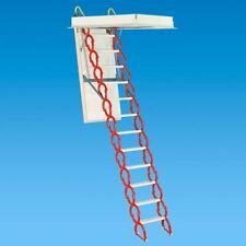 "Rainbow M3060H Prestige Telescoping Attic Ladder/Stair - 9'10""H - 11'6""H - RED"