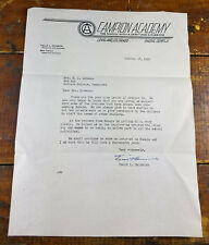 1952 Campion Academy Loveland CO Colorado to Madison College TN Tennessee Letter