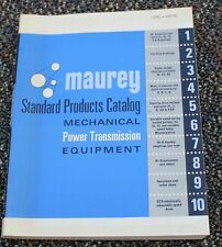 1970's MAUREY MFG MECHANICAL POWER TRANSMISSION EQUIPMENT Catalog  SPC-MPTE blue