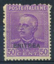 Eritrea 1928 Sass. 136 Senza gomma 100% 50 c
