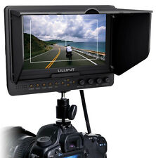"Lilliput 665 7"" HDMI 1080P Camera Video Field Monitor 1024x600 w/ Battery Plate"