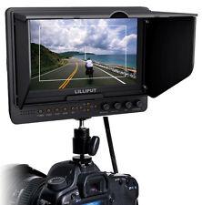 LILLIPUT 7'' 665 HDMI LCD Camera Video Field Monitor+F970 LP-E6 Plate 1024X600