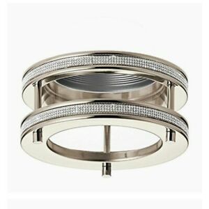 Kichler Angelica 6-in Polished Nickel Crystal Accents  Double Ring Recessed Kit
