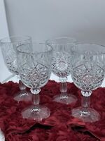 Hobstar water glasses Set Of 4 Thick And Heavy