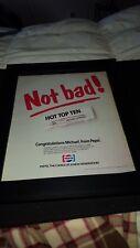 Michael Jackson Pepsi Bad Rare Original Promo Poster Ad Framed!