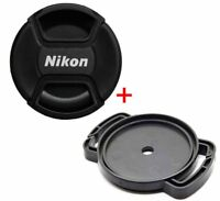 GIFT 52mm Front Lens Cap Snap-on Cover and Lens Cap Holder Buck for Nikon Camera