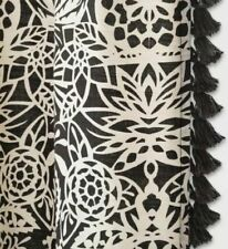 Opalhouse Allover Black White Floral Fabric Shower Curtain Cotton NWT