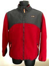 Champion Boys Red / Gray Full Zip Fleece Jacket Size XL (16-18)