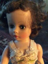 VINTAGE MM ALEXANDRA DOLL WITH BRUNETTE HAIR/ GreenEYES IN GOOD CONDITION.