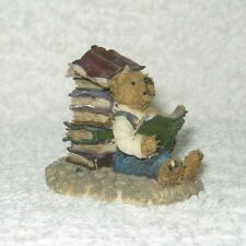 New listing Boyd's Town Village Figurine - Norman with Books - Dated 2001
