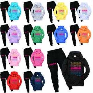 Hoodie Rebecca Tracksuit Set Zamolo Zamfam Kids Pocket Trousers Casual Top+Pants