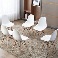 EGOONM 6er Set Esszimmerstühle Kunststoff Holzbeinen Bürostuhl Konferenzstuhl