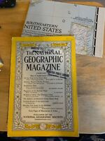 NATIONAL GEOGRAPHIC February 1947 WITH MAP! MEXICO BURIED TEMPLES Siam CAMEROONS