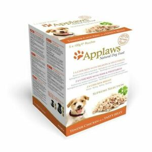 Applaws Supreme Selection Dog Food Chicken Salmon Ham Vegetable in Jelly 5x100g