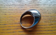 Unisex Fashion Ring Mirrored High Polished Dome Ring Sz.9 Silver Metal New