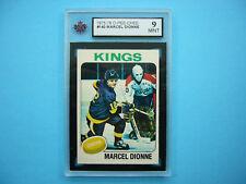 1975/76 O-PEE-CHEE NHL HOCKEY CARD #140 MARCEL DIONNE KSA 9 MT SHARP+ 75/76 OPC