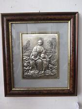 Quadro capoletto Madonna del cardellino - argento 925 sbalzato - Raffaello