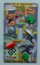 VINTAGE MONOPOLY LIGHT SWITCH COVER HANDMADE WITH VINTAGE EPHEMERA FREE SHIPPING