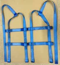TOW DOLLIE Basket Straps Tow Dolly Wheel Net LOOP END BLUE USA fit STEHL