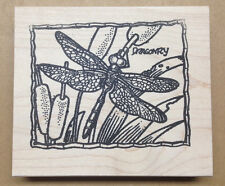 Wood Mounted Rubber Stamps, Dragonflies, Dragonfly Frame, Nature Stamps, Stamp