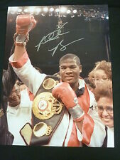 Riddick Bowe Signed 12x16 Boxing Photograph. : A