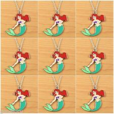 Lot 9pcs the Little Mermaid Princess Ariel Charms Necklaces Birthday Party Gifts