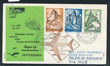 61547) LH FF Nizza France-Palma Spagna 5.4.63, sou a partire da San Marino