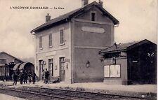 MEUSE - L'ARGONNE-DOMBASLE - LA GARE - ANIMATION.