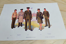 US Marine Corps USMC 1983 Plate I 1 Officers Service Uniforms art print 12x18