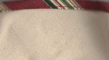 Longaberger Silver Bells Basket Neutral Holiday Stripe Xmas Fabric Liner NIP