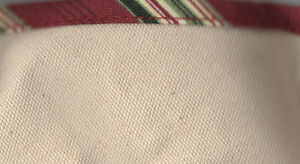 Longaberger Silver Bells Basket Neutral Holiday Stripe Xmas Fabric Liner NIP