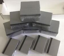 500 Silver PVC Cards - HiCo Mag Stripe 2 Track - CR80 .30 Mil for ID Printers