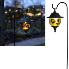 LED solar Laterne Gartenlampe M. Dekor Blumen Schmetterlinge *top*