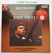 SXLP 30515 - BEETHOVEN - Piano Concertos No 2 & 4 GILELS / SZELL - Ex LP Record