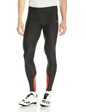 CANARI Men's Cyclewear Spiral Tight Bottoms, Black/Red, Small