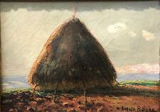 Roure Auguste - Meule de foin - Huile sur toile v 93