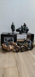 Schuco Motorrad mit Beiwagen Militär Sammelauflösung / Walküre / Walküre