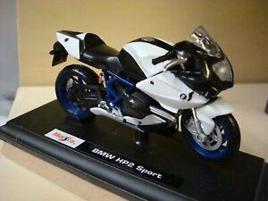 BMW HP 2 Sport White - Blue 1:18 Maisto