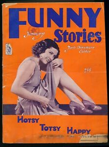 FUNNY STORIES January 1931 Spicy Girlie Cartoon Pulp Magazine Leg Art Cover vv