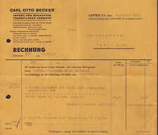 Leipzig, facture 1938, bruts-café-IMPORT Carl Otto Becker
