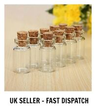 Mini Glass Bottles Vials Cork Stopper Decorative Storage Pendant Jewellery ML