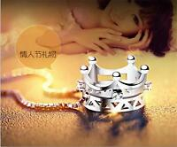 Hot Wholesale 925 silver pendant necklace Girls Imperial crown Jewelry 45CM Gift